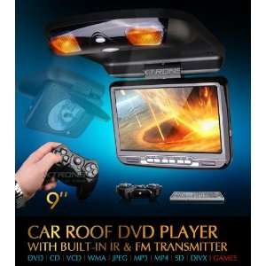 BRAND NEW HIGH QUALITY 9 CAR ROOF DVD PLAYER WITH BUILT