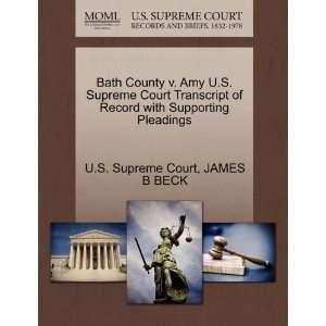 Bath County v. Amy U.S. Supreme Court Transcript of Record