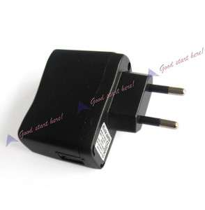 Black USB EU Plug AC DC Power Supply Wall Charger Adapter  MP4 DV