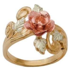 Elegant 10K Gold Rose Ring Jewelry