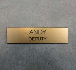 EUREKA DEPUTY ANDY KAVAN SMITH SCREEN USED DEPUTY BADGE & NAME TAG
