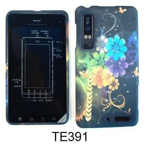7 Colorful Flowers and Butterflies on Black Cell Phones