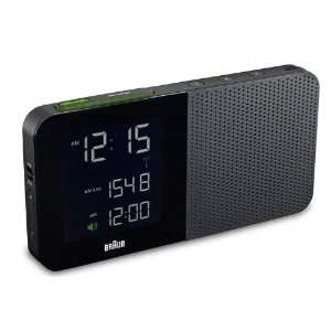Braun   Digital Alarm Clock Radio in Black