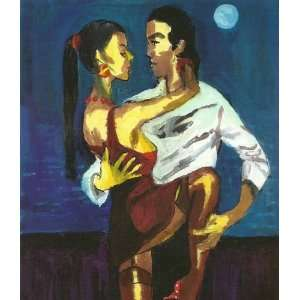 Artist Harry Weisburd   11 Inches x 14 Inches   Night Lovers 3D: Home