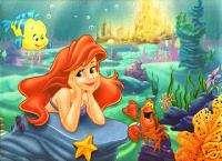Disneys LITTLE MERMAID ARIEL Pink Wallpaper Border