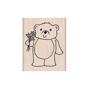 Wood Block Bouquet Bear by Hero Arts: Home & Kitchen