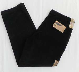 NWT Mens Black Dockers Corduroy Khaki Pants Size 38x32