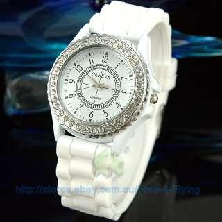 Stylish Fashion Luxury Crystal Women/ Lady Watch White