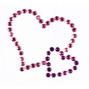Pink/Purple Double Heart Crystal Arts, Crafts & Sewing
