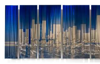 URBAN ABSTRACT PAINTING METAL WALL SCULPTURE CITY ART