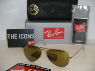 RAY BAN AVIATOR RB3025 W3274 55MM GOLD WITH FULL GOLD MIRROR SIZE 55MM