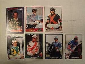 HORSE RACING, JOCKEY CARDS, (7) FRANK DOUGLAS