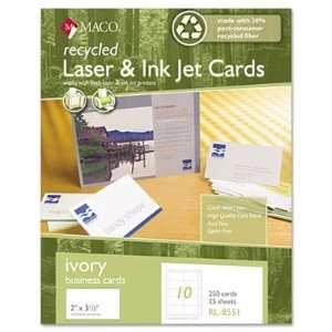 Charpak Recycled Laser/Inkje Business Cards MACRL8551