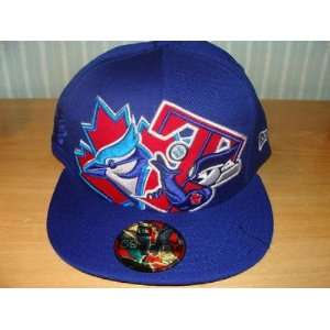 Toronto Blue Jays New Era Hat Cap Dual Logo MLBl 7 1/4   Mens MLB