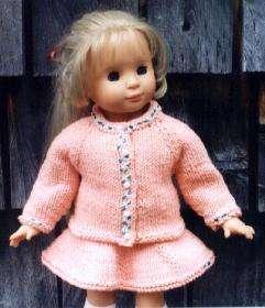 Raglan Knitting Pattern fits American Girl or 18 Doll
