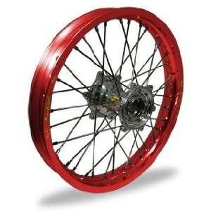 Pro Wheel Pro Wheel 4.25x17 Super Moto Rear Wheel   Silver Hub/Red Rim