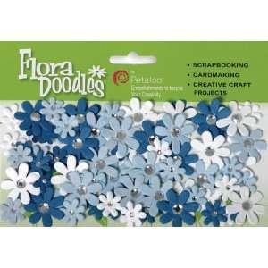 Flora Doodles Jeweled Florettes Dark Blue/Light Bl