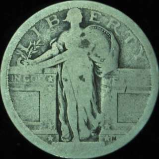 1917 P Type 1 Good Standing Liberty Quarter in Eagle Coin Holder