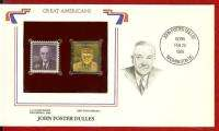 Great American John Foster Dulles 22K Gold Stamp