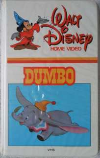 Walt Disneys DUMBO  VHS  1984 1st Edition Black Diamond Clamshell