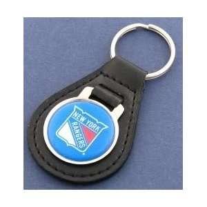 New York Rangers Blue Logo Leather Keychain Sports