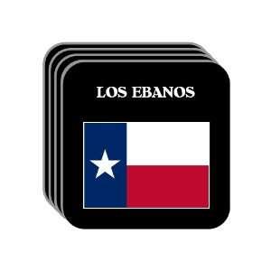 US State Flag   LOS EBANOS, Texas (TX) Set of 4 Mini Mousepad Coasters