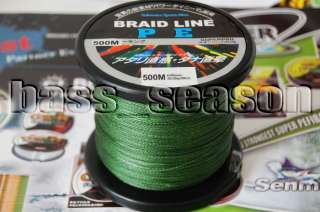 Fishing MOSS GREEN DYNEEMA BRAID LINE FISHING LINE 20LB 500M