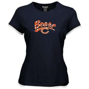 Womens Chicago Bears Polka Dot Team Logo Cap Sleeve