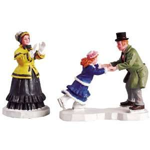 Christmas Village Collection Skating Lessons Figurine #52036 Home