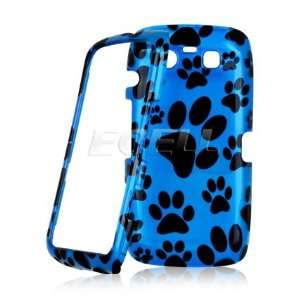 Ecell   BLUE DOG PAW PRINT DESIGN FRONT & BACK CASE FOR