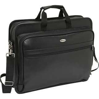 Targus 17 Deluxe Leather Laptop Case   Black