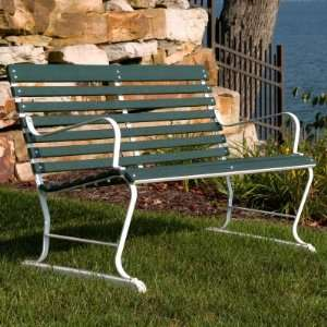 Recycled Plastic Ivy Terrace 4 ft. Bench Patio, Lawn & Garden