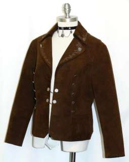 BROWN ~ German Women Western Equestrian Dirndl Dress Short Suit JACKET