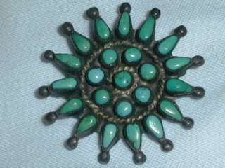GREAT ZUNI STERLING PETIT POINT BROOCH http//www.auctiva