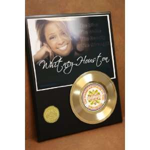 Whitney Houston 24kt Gold Record LTD Edition Display ***FREE PRIORITY