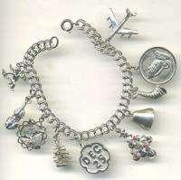 Description Up for sale is a sterling silver starter charm bracelet