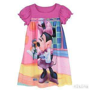 MICKEY MOUSE CLUBHOUSE Minnie Nightgown Gown Pajamas 4
