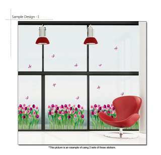 PINK TULIP Mural Art Removable Vinyl Wall Decal Sticker