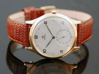 Omega 18K Solid Pink Gold Vintage Mens Watch