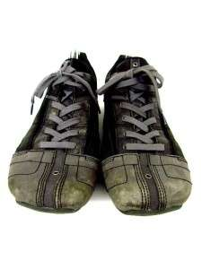mens gray DIESEL sneakers shoes EVREUX modern trendy leather sz 13 D