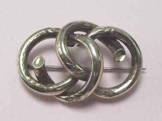 ANTIQUE PINCHBECK LOVE KNOT BROOCH PIN 1890