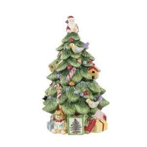 Spode Christmas Tree Christmas Tree Shape Covered Cookie