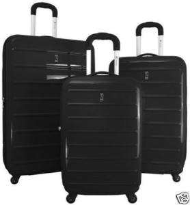 Heys TC 24 Parallel EXPANDABLE Spinner Luggage BLACK