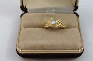 Rhinestone 14KT Gold Plated Ring Size 6 1/2