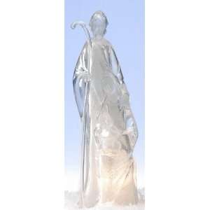 Crystal Religious Holy Family Christmas Night Lights