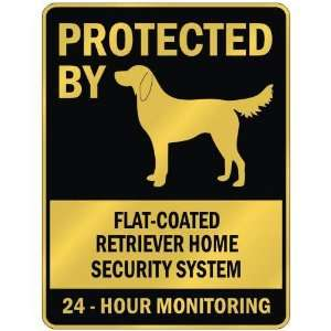 FLAT COATED RETRIEVER HOME SECURITY SYSTEM  PARKING SIGN DOG: Home