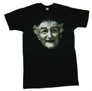The Munsters Grandpa Munster Face Funny TV Show Soft T Shirt Tee