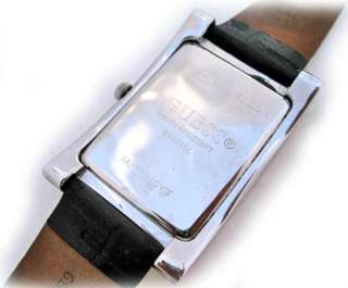 GUESS MOTHER of PEARL Crystal Stones Rectangle WATCH