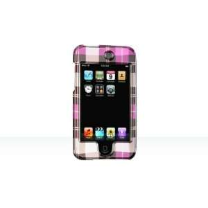 iPod Touch 2nd Generation Crystal Case Hot Pink Check