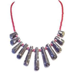 The Black Cat Jewellery Store Dark Grey Howlite & Shell